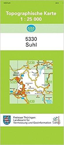Topographische Karte Thüringen.Suhl 5330 Topographische Karten 1 25000 Tk 25 Thüringen Amtlich