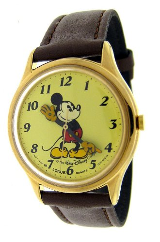 MEN'S LORUS QUARTZ CLASSIC DESIGN MICKEY MOUSE POINTING HANDS WATCH