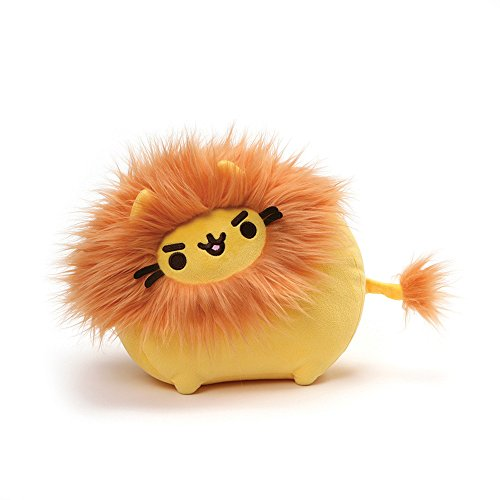GUND Pusheen Pusheenimal Lion Plush Stuffed Animal, Yellow and Orange, -