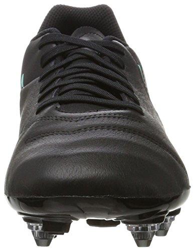 Nike Tiempo Genio Ii Leather Sg, Botas de Fútbol para Hombre Negro (Black / Black)