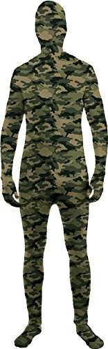 Camo Skinsuit Soldier Jumpsuit Funny Theme Halloween Teen Costume, Teen OS