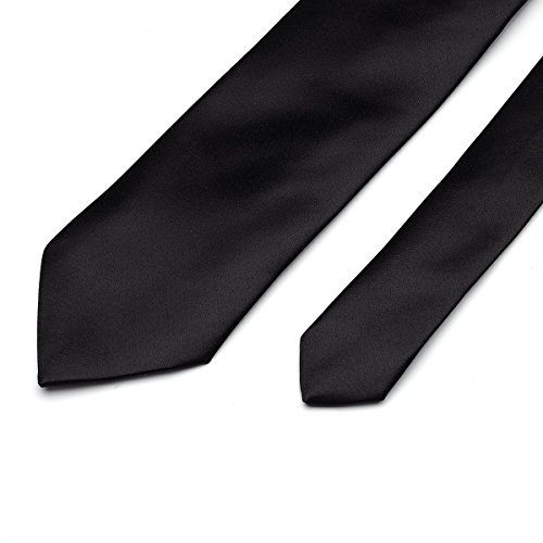 in Solid Party Satin 22 Neckties Color Classic Ties Colors Neck for Pure Men Wedding Polyester Formal 22 Plain black Work aZfnOX