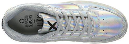 Rainbow wize Silver Unisex Basse Sneaker Argento 002 Pop amp; Adulto LED ope qxCvWqZAwU