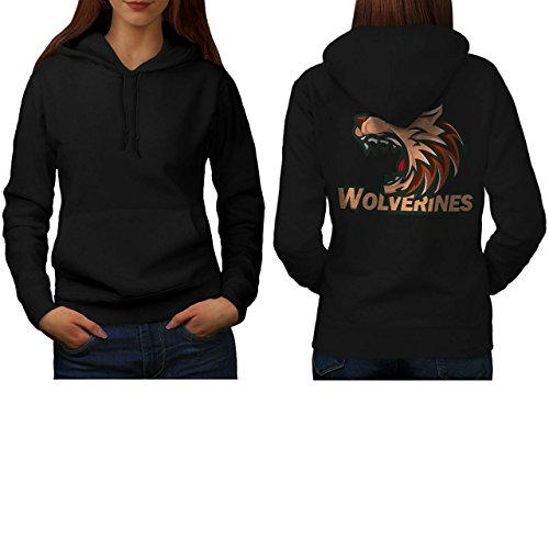 Wolverine Sport Team Basketball Women S Hoodie Back | Wellcoda (Evil Bunny Costume)