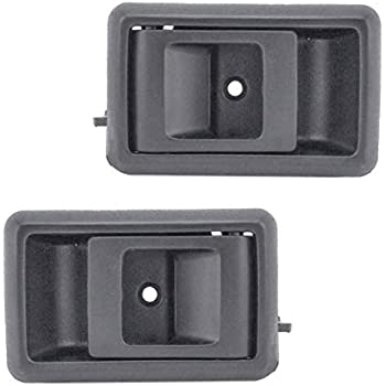 Inside Interior Brown Door Handle Pair Set Front or Rear for Chevy Pickup Truck