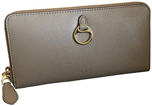 size 40 3b6d3 19f72 Lauren Ralph Lauren Women's Allenville Zip Genuine Leather Wallet Taupe