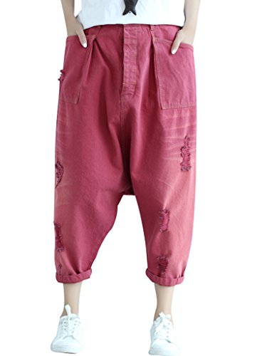 Bigassets Femmes Taille lastique Pantalons en jeanHarem Jeans Style 6