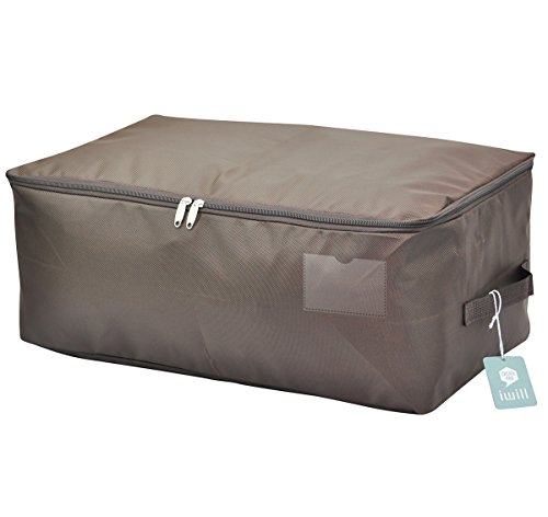 (iwill CREATE PRO Clothes Storage Bins, Beddings, Blanket Organizer Storage Containers, House Moving Bag, Coffee)