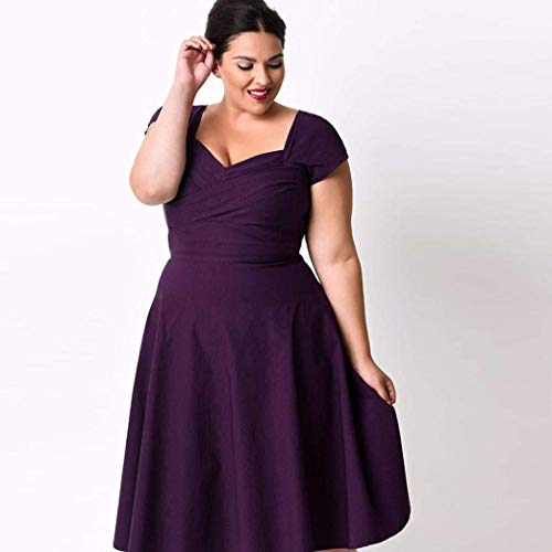 BlackDimensione Da Plus DonnaDonna Qiusa largePurple Cocktail Casual Corta Party DresscoloreSexy Manica Sweetheart Formal Abiti Size 3x WD9EY2IeHb