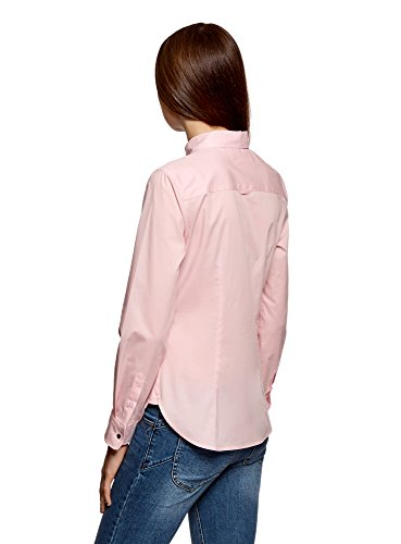 Donna Ultra Tasca Camicia 4010b Rosa con Basic oodji Tpwqdxq