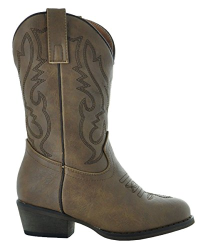 Country Love Little Rancher Kids Cowboy Boots K101-1001 (10, Brown) by Country Love Boots (Image #2)