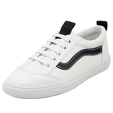 VulusValas Women Fashion Flats Running Shoes Sneakers Black Size 32 Asian