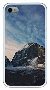 carrying iphone 4S covers landscapes nature snow mountain 22 TPU White for Apple iPhone 4/4S