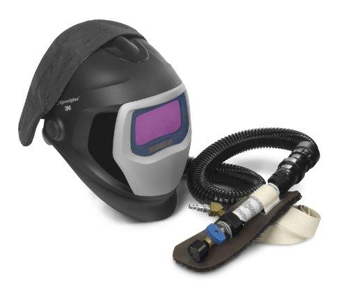 3M Speedglas Fresh-Air III Supplied Air System with V-200 Vortemp Air-Heating valve and Speedglas Welding Helmet 9100-Air, 25-5802-20SW with SideWindows and Auto-Darkening Filter 9100X, Shades 5, 8-13