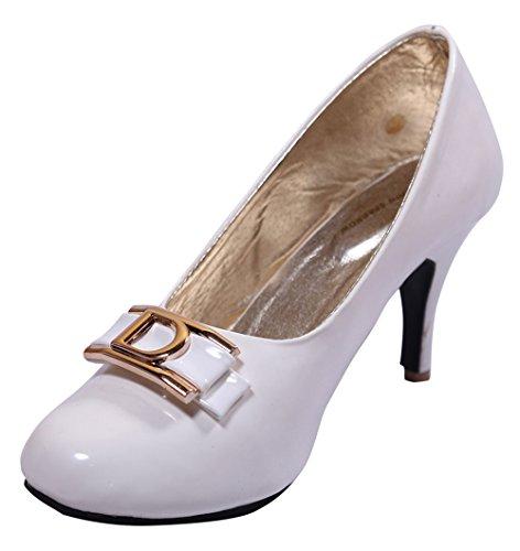 John Sparrow Zapatos de tacón alto de tacón alto para mujer - Elegir tamaño Blanco