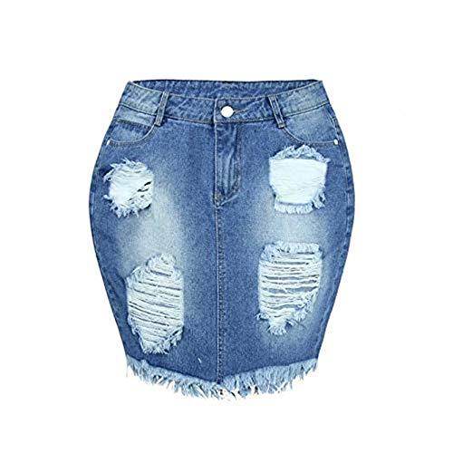 Henwerd Women's Fashion Cotton Denim Casual Skirt High
