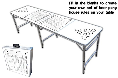 Amazon.com  8-Foot Professional Beer Pong Table w/ Cup Holes - House Rules Graphic  Pong Games  Sports u0026 Outdoors  sc 1 st  Amazon.com & Amazon.com : 8-Foot Professional Beer Pong Table w/ Cup Holes ...