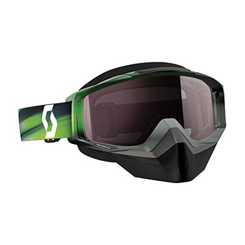 Scott Tyrant Men's Snocross Snowmobile Goggles Eyewear - Speed Grey/Green/Silver Chrome/One Size