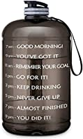 Gallon Water Bottle Portable Water Jug - Fitness Sports Daily Water Bottle with Motivational Time Marker, Leak-Proof Gym...