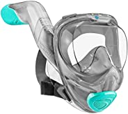 Seaview 180° V2 Full Face Snorkel Mask with FLOWTECH Advanced Breathing System - Allows for A Natural & Sa