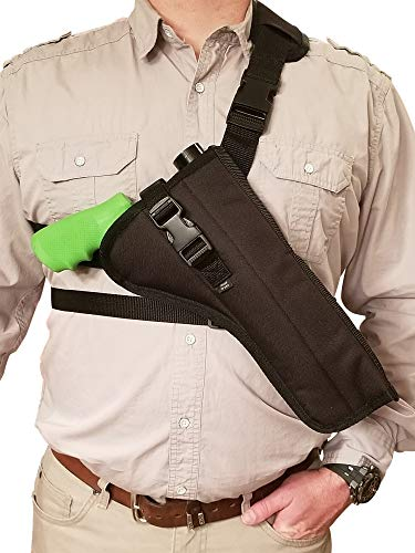 Silverhorse Holsters Chest/Shoulder Gun Holster | Fits Smith & Wesson 460, 500 X Frame Revolvers with Smaller Scope in 6.5