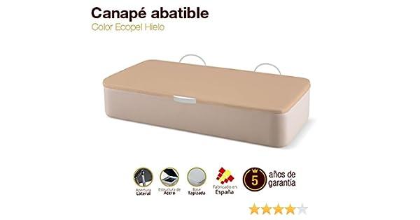 Canapé Abatible Tapizado Apertura Lateral Tapa 3D Ecopel Hielo 105x190cm Envio y montaje gratis: Amazon.es: Hogar