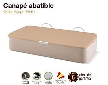 Canapé Abatible Tapizado Apertura Lateral Tapa 3D Ecopel Hielo 90x190cm Envio y montaje gratis: Amazon.es: Hogar