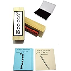 Recorder Student Gift Pack (Flashcards, Fingering Rubber Stamp & Pad!) …