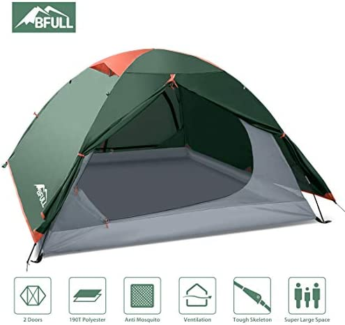 BFULL Camping Tents 2-3 Person Lightweight Backpacking Tents for Hiking Camping Outdoor Travel, Waterproof Pestproof Windproof Double Layer Easy Setup Dome Tent