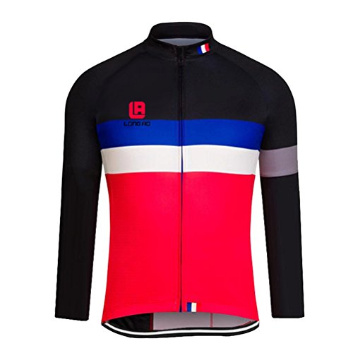 Cyber Monday FHSom Men's Cycling Long Sleeve Zip With Breathable Cool Quick Dry Jersey Tops Cloth Winter (Colombia National Costume For Men)