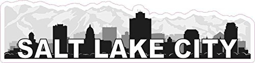 10x3 Salt Lake City Skyline Sticker City Travel Car Truck Bumper Window Stickers