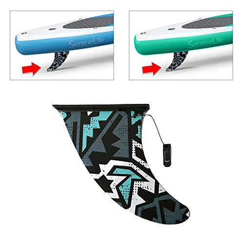 Replacement SUP Center Water Fin (for SereneLife Thunder Wave Inflatable SUP Stand-Up Paddle Boards) - SereneLife PRTSLSUPFIN ()