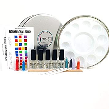 Amazon.com : Mixify Beauty Create Your Own Indie Nail Polish Kit ...