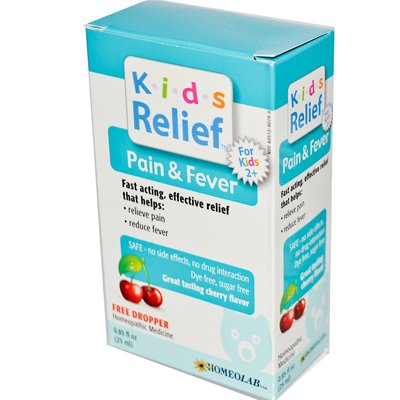 Homeolab USA Kids Relief Pain & Fever - Homeolab Kids Relief Remedies