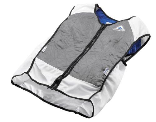 photo Wallpaper of TechKewl-TechKewl Hybrid Cooling Vest, Silver, X-Silver