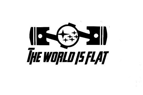 Subaru The World Is Flat Sti Impreza Wrx Brz Window Sticker Vinyl Decal