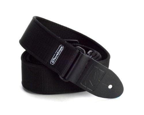 Dunlop D3809BK Solid Black Strap