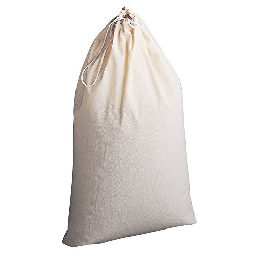 Household Essentials 120 Extra Large Natural Cotton Laundry Bag | Beige Sleeping Bag Storage Sack