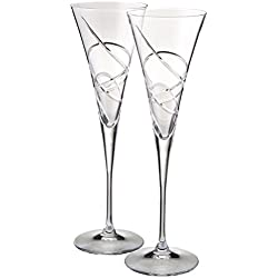 Lenox Adorn Toasting Flute, Clear, Set of 2