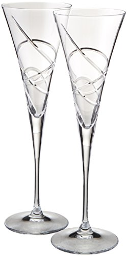 Lenox Adorn Toasting Flute, Clear, Set of 2 (Wedding Toasting Flutes)
