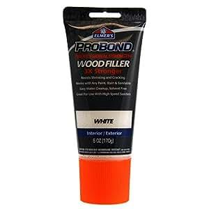 Elmer 39 S Probond Professional Strength Wood Filler Interior Exterior 6 Oz White