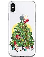 Oihxse Case Compatible con Samsung Galaxy M20 Funda Transparente Silicona Suave Carcasa Protectora Navidad Santa Deer Diseño de patrón Creativo Ultra Slim Flexible Cover