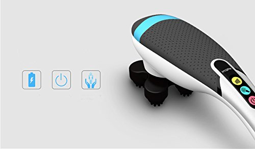 MLTEK - Massager - Relaxing - Therapeutic - 10 patterns - Water Resistant - Mute - Wireless - Compact and Travel Friendly - 6.5 Inch