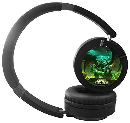 Ada-Boom Cool Bluetooth Headphones Over Ear, Soft Memory-Protein Earmuffs,w/ Built-in Mic and Wired Mode for PC/ Cell Phones/ TV(World of Warcraft)