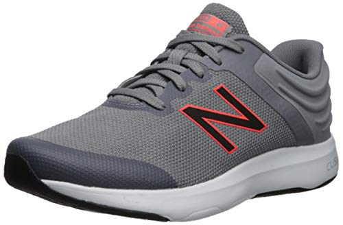 Walking Men Shoe (New Balance Men's Ralaxa V1 CUSH + Walking Shoe Gunmetal/Alpha Orange 10 4E US)
