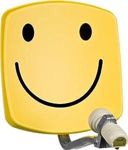 technisat digidish 33 sat offset spiegel mit wandhalterung und universal v h lnb smiley gelb. Black Bedroom Furniture Sets. Home Design Ideas
