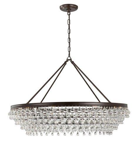 Crystorama 278 vz contemporary modern eight light chandelier from crystorama 278 vz contemporary modern eight light chandelier from calypso collection in bronzedarkfinish aloadofball Gallery
