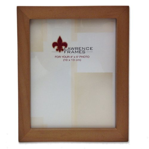 Lawrence Frames 766045 Nutmeg Wood Picture Frame, 4 by 5-Inc
