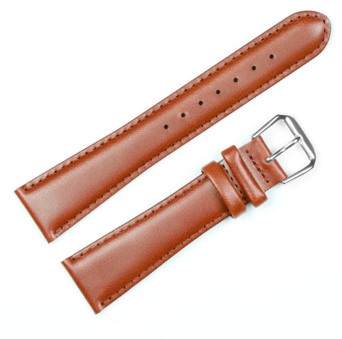 Coach Leather Watch Band (Silver & Gold Buckle) - Havana 19mm