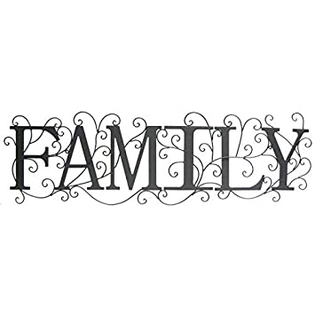 Family Metal Wall Art
